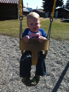 Kierran was TERRIFIED of the swing.