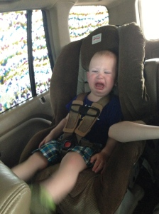 We visited my brother in law Kyle at the car wash. Kierran was NOT impressed with the colorful soap.