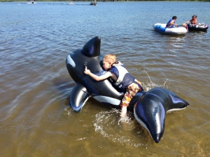 We went to Birch Lake to hang with friends and had a great time!